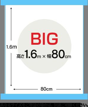 最大 縦2m×横1mまで対象